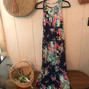 Dresses & Skirts - Floral dark moody maxi dress
